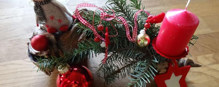 Weihnachtliches Wurzelholz