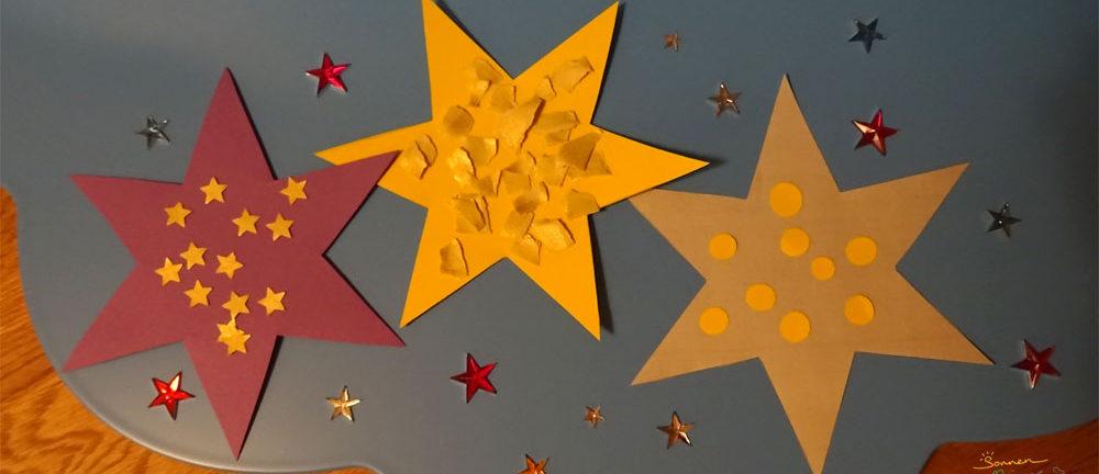 Weihnachtsbasteln Sterne Aus Goldpapier.Stern Basteln