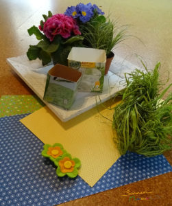 Materialien Blumentopf